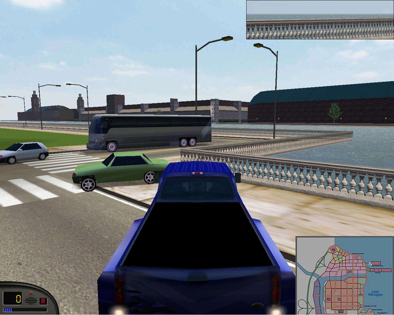 Traffic exists near the water purification plant in MM1.