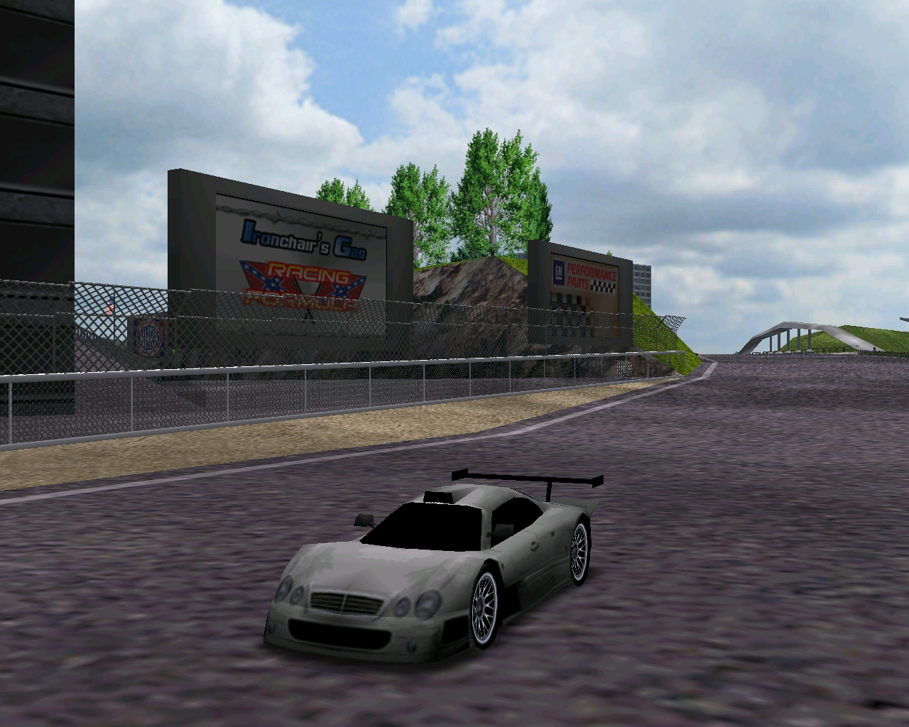Just racing around in one of my 8 recent conversion from NFSHS for MM1, the Mercedes CLK GTR, you can get it along with the 7 other cars I converted recently at MMArchive.