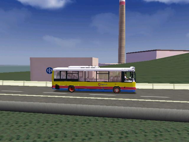a China Light and Power power station in Hong Kong.bus on picture:Citybus 1488