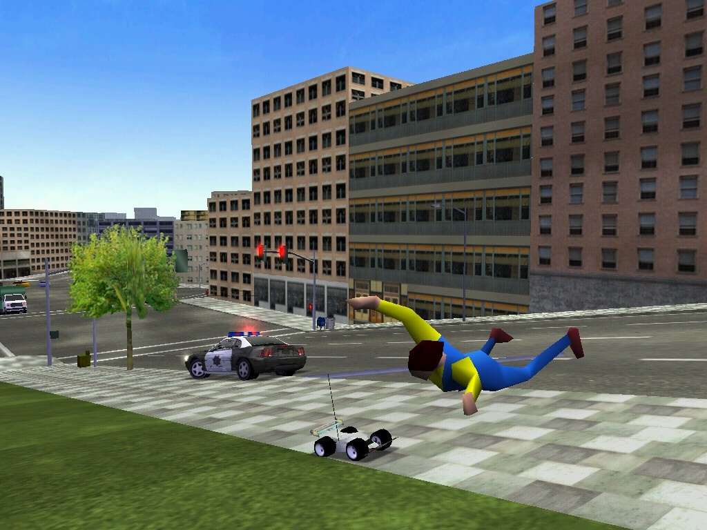 People jumping out of the way for little RC cars? Cops going after 20-inch long racers? Only in MM2...