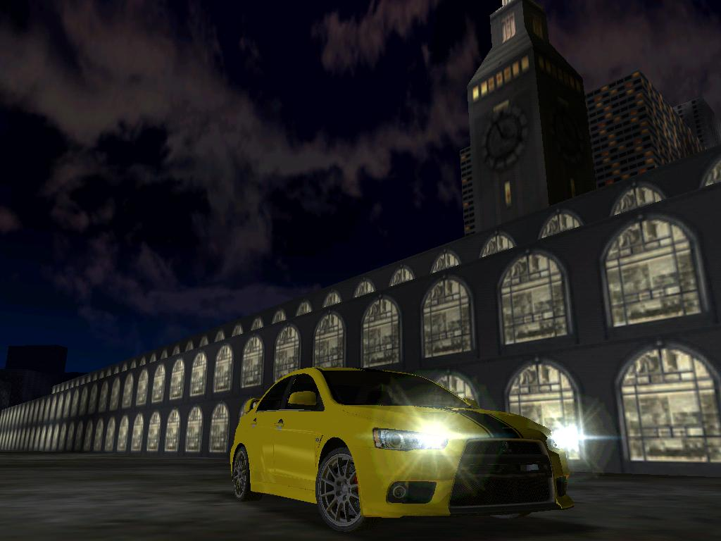 That's the final version of his 2008 Mitsubishi Lancer Evolution X conversion from NFS PS to MM2 with 'opened' headlights and back lights. So now there are headlights on the car.
