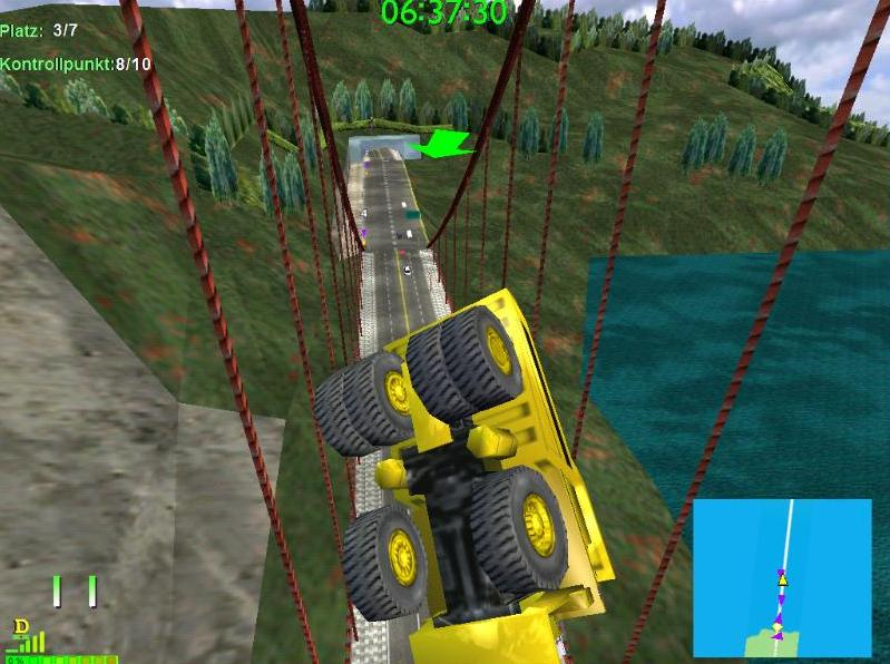 Have you ever crashed a Komatsu like this on the GGB, that it flies so high in the air?