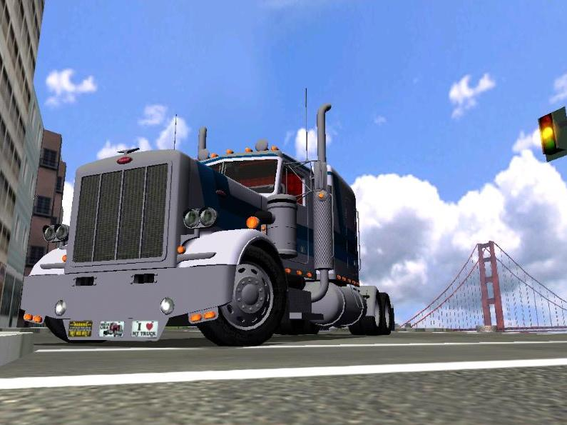 I think I took a really beautiful screen shot of this amazing truck, haven't I? The 1986 Peterbilt 359 by Riva. :)