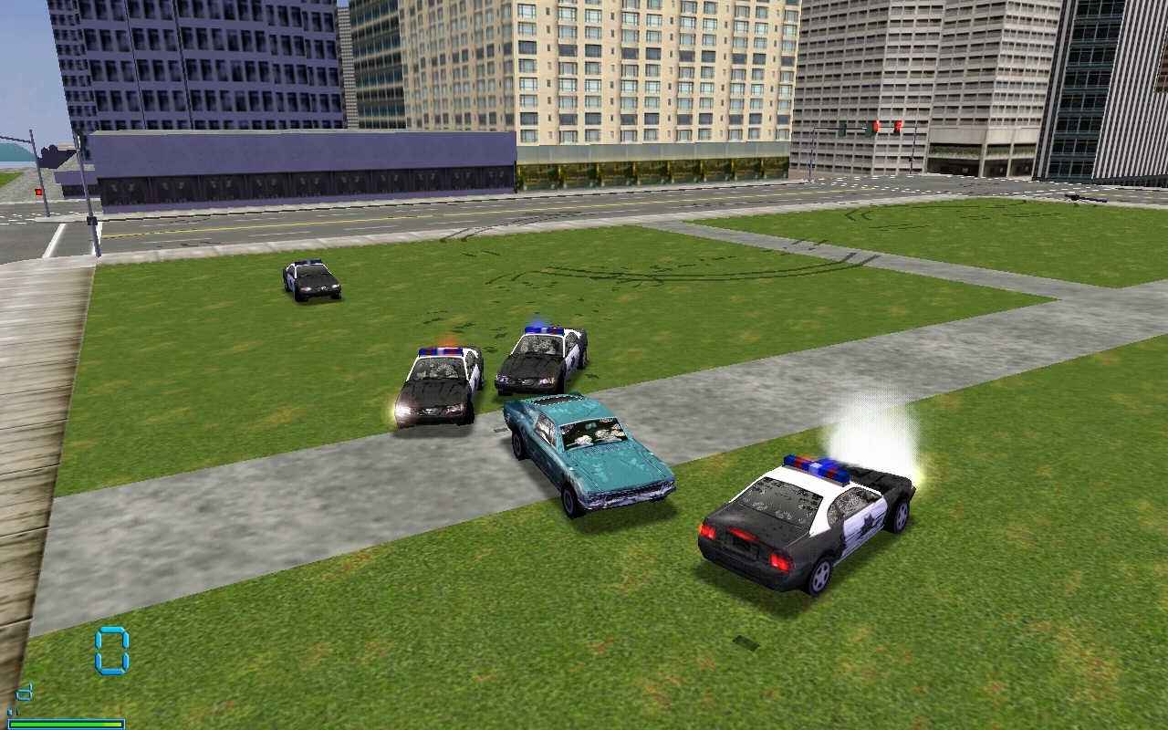 Only 3 cops chase me?