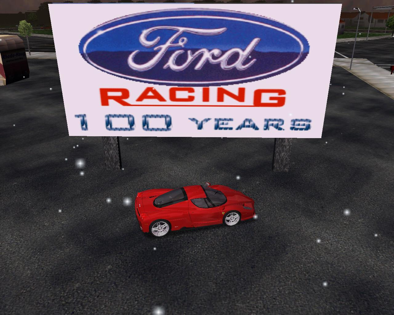 Ford Racing, 100 years, whats the Ferrari doing?