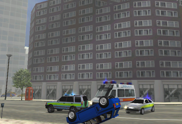 I was trying to get away from the police with my high performance Citroen AX