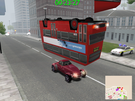 While I was racing in Cut It Short, the two Roadsters lined up and rammed the Double Decker Bus from behind, the bus then landed upside-down! xD