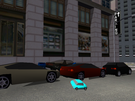 Just look at the cyan colored car! Look how small and dilated it is!!!  O.o