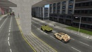 An APC and a HMMWV patrols the streets of SF to capture 2 terrorists who are reported to be near SOMA.