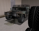 Its a humvee parked in garage