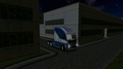 After unloading the goods on the factory, Freighliner Argosy is ready for a long night trip.
