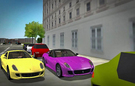 Yellow Ferrari 599 GTB and Purple Ferrari 599 GTO