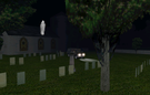 Ghost hunting in Archipelago's graveyard. (Though I've stopped believing in ghosts and spirits. Sill, what's the problem in making a picture? I've my own theory of ghost spotting stories).