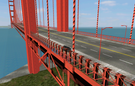 View of the Golden Gate Bridge.