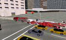A fire fighter convoy.