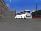 Down by the docks in Maddness City 3 in my Daewoo Tour Bus!