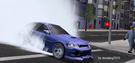 Honda civic(mc2)burnout.