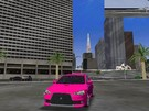 my pink lancer evo x   with bodykit  
