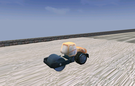 Roadroller working in Lost City.