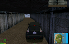 This is the easter egg that the author was talking about. It's not a new find, I knew it from the time I first drove on this map. (I never drove here in MM1. Since in MM1 it crashes). It's a tunnel system. When you start at the graveyard go to t