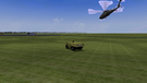 An APC and a blackhawk going to attack an enemy gas station. The blackhawk is taken from a different shot from DF: Black Hawk Down from a mission called 'Post Under Siege' created by me.