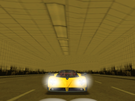 Zonda in the SF tunnel with it's lights on